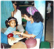 Becky with Orphan Girl in Suriname South America